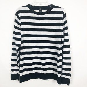 H&M I Long Sleeve Striped Crew Neck Sweater